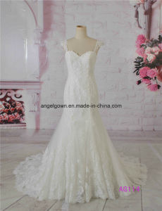 2016 Sexy Mermaid French Lace Wedding Dress Bridal Real Image pictures & photos