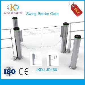 Luxurious High Speed Cylinder Swing Barrier Gate Security pictures & photos
