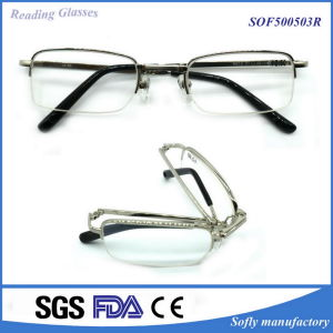 Wholesale Optical Frame Metal Foldable Reading Glasses pictures & photos