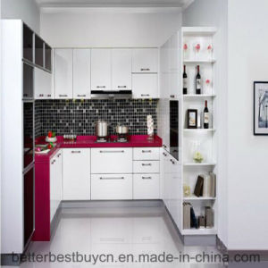 Latest Price High Quality Lacquer Kitchen Cabinet pictures & photos