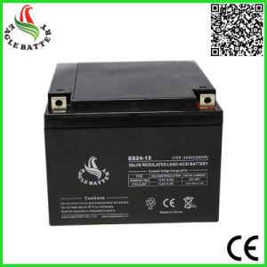 12V 24ah Rechargeable Sealed Lead Acid Battery for Solar Power System