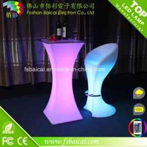 Remote Control LED Light Furniture Bar Table