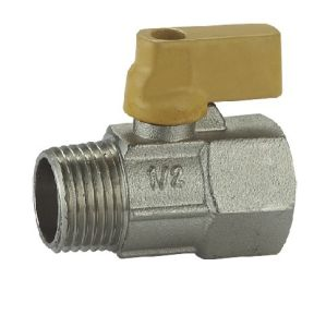 (HE-1139) Brass Ball Valve Pn16 with Wing Handle for Water, Oil