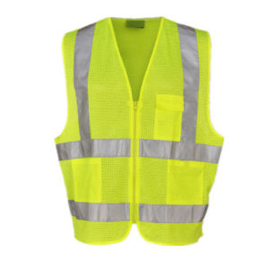Orange / Yellow Safety Vest with Reflective Tape