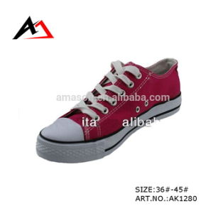 Men Shoes Canvas Casual Shoes Fashion Flat Sneaker (AK1280) pictures & photos
