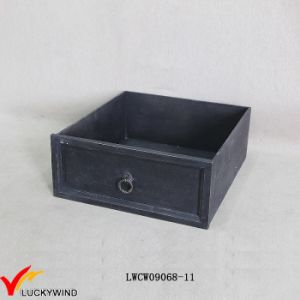 Antique Wooden French Black Drawer Style Box pictures & photos