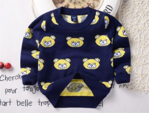 T1232 Best-Selling Autumn 100% Cotton Double-Layer Soft and Thick Baby & Kids Boy Bears Sweater Pullover Knitted Shirt Long Sleeve Children pictures & photos