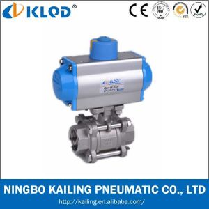 CF8m 1000 Wog Pneumatic Ball Valve with CE Certificate pictures & photos