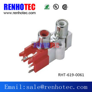 90 Degree Audio Female Chassis Jack RCA Socket pictures & photos