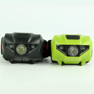 Plastic Waterproof LED Flashlight Head Lamp with Logo Printed (4000)