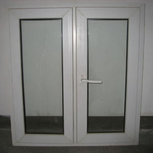 White Colour UPVC Profile Double Sash Casement Window with Multi Point Lock K02005