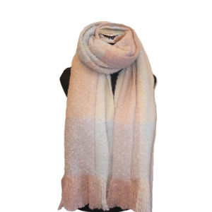Ladies′ Soft Touch Boucle Marl Blanket Scarf pictures & photos
