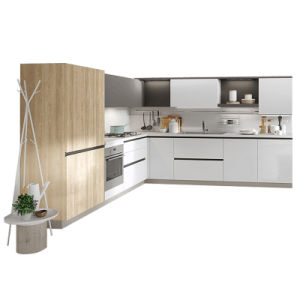 China Modern Style Kitchen For Project High Gloss Lacquer Cabinet