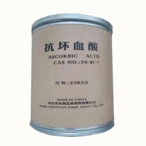 Food Grade Ascorbic Acid (Vitamin C) CAS No.: 50-81-7 China Factory