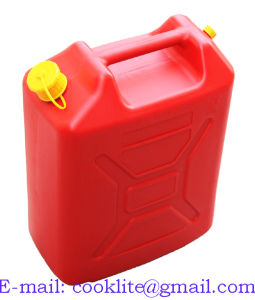 3x PLASTIC 10 Ltr CAR FUEL PETROL DIESEL WATER JERRY CAN CONTAINER WITH SPOUT