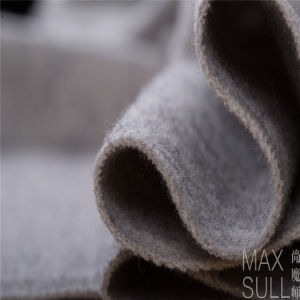 Wool/Cotton Fabric for Autumn or Winter Coat in Gray