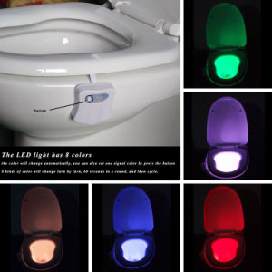 Bathroom LED Sensor Toilet Sign Lavatory Toilet Bowl Lid Light pictures & photos