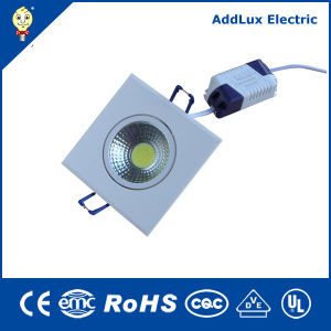 Aluminum Plastic 3W-5W-7W-10W Square Dimmable COB LED Downlight pictures & photos