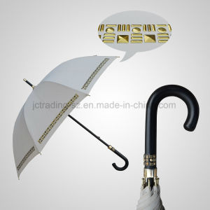 High Quality Straight Manual Umbrella PU Leather Handle Fashion Umbrella (JL-MQT133)