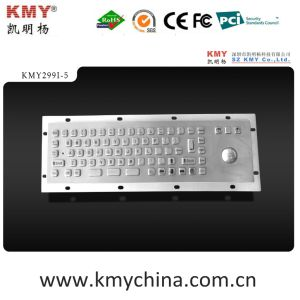 IP65 Ik07 Mini Metal Kiosk Keyboard with Trackball (KMY299I-5) pictures & photos