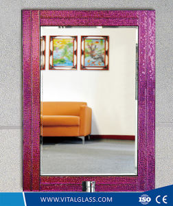 Beveled Edge Silver Frame Mirror/Tinted/Reflective Mirror with Ce