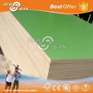 16mm 17mm Green Color Melamine Plywood pictures & photos