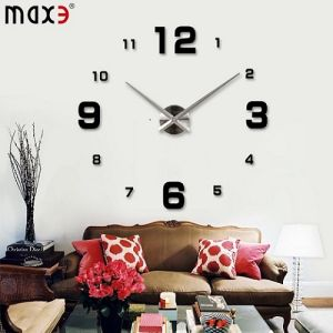 China Giant Wall Sticker Clock 3d Wall Clock Factory Home Decoration