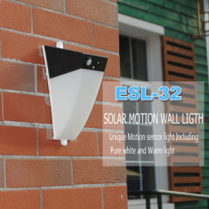 LED Solar Garden Light with Pure Warm White Mini Wall Outdoor Lamp