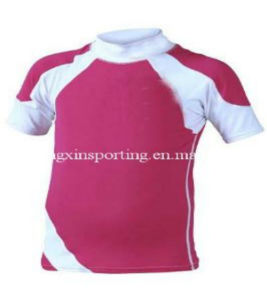 Children′s Short Sleeve Rash Guard (HXR0015) pictures & photos