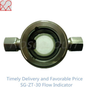 Polished Plastic Seal Flow Indication for Food Industry