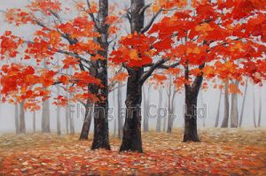 Oil Painting for Street in The Forest pictures & photos