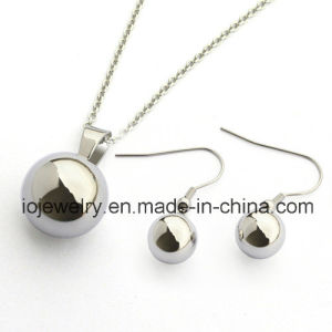 Hollow Jewelry Ball Earrings Pendant Necklace Stainless Steel Jewelry Set pictures & photos