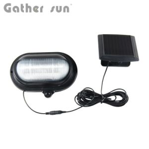 Patent LED Solar Door Light Outdoor IP44 Waterproof Black PIR Motion Sensor Light Easy Install wireless Wall Lamp