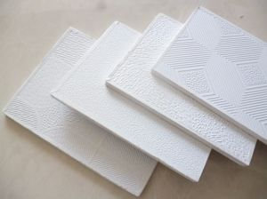 High Quality PVC Laminated Gypsum Ceiling Tiles (603*603*7mm) pictures & photos
