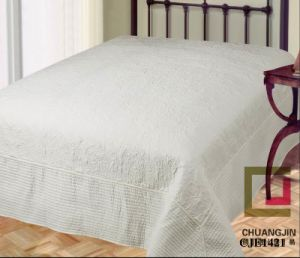 Embroider Quilt Solid Color Bedding Set