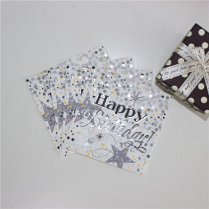 Foiling Silver Paper Lunch Napkin 25*25cm/2ply & 25*25cm/3ply pictures & photos