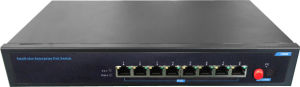Unmanaged 8 Port RJ45 Poe Fiber Ethernet Network Switch