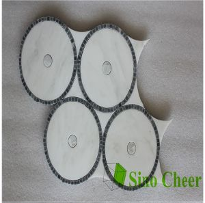 White Marble Tile Round Mosaic Medallion Floor Patterns