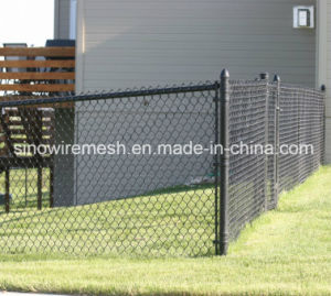Hot Dipped Galvanized / PVC Coated Temporary Construction Chain Link Fence