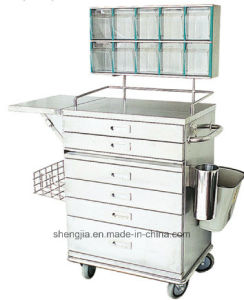 Sjt087 Luxurious Stainless Steel Anesthesia Cart