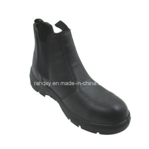 Full Leather No Shoebuckle Safety Shoes (HQ01019) pictures & photos
