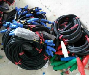 Optical Fiber Cable Wire Socapex Break-out to Powercon