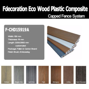 Co-Extrusion Composite Wood Decking WPC Fence Panel