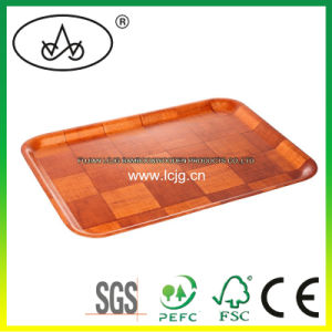 Bamboo Serving Tray for Tea/ Fruit/ Breakfast/ Drinks/ Dessert/ Food/Coffee/ Snack/ Dishes/Tableware/ Hotel/Restaurant/Household/Daily Use/Pinic/Wood (LC-642B)