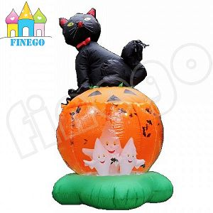 China Airblown Inflatable Halloween Pumpkin Ghost Black Cat Lawn