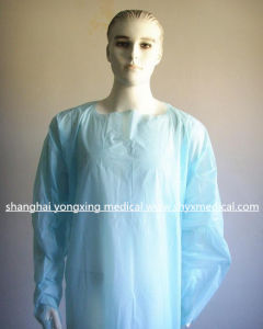Recycle Polyethylene/PE/CPE/PP Gown, CPE Disposable Gown, CPE Isolation Gown