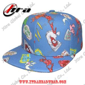 Digital 3D Printing Fabric Snapback Cap Allover Cartoon Caps pictures & photos