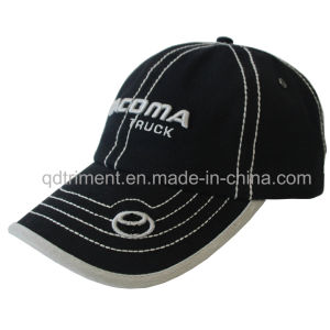 Contrast Thick Stitches Binding Embroidery Sport Golf Baseball Cap (TMB00259-1) pictures & photos