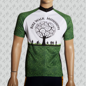 Custom Made Sublimation Blue Cycling Jersey