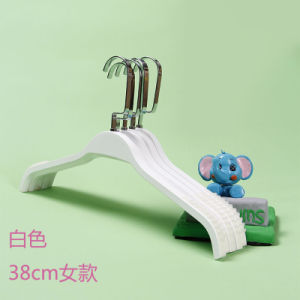 Laminate Wooden Hanger for Women 3812-2 White